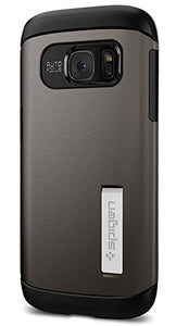 Spigen Slim Armor Galaxy S7 Case with Kickstand and Air Cushion Technology and Hybrid Drop Protection for Samsung Galaxy S7 2016 - Gunmetal