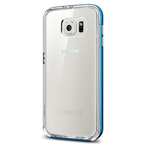 Spigen Neo Hybrid CC Galaxy S6 Case with Flexible Inner Casing and Reinforced Hard Bumper Frame for Galaxy S6 2015 - Blue Topaz