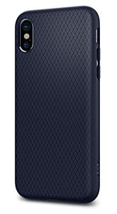 promo code 52f39 72df7 Spigen Liquid Air Armor iPhone X Case with Durable Flex and Easy Grip  Design for Apple iPhone X (2017) - Midnight Blue