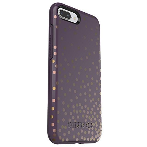 quite nice 693a5 ddd50 OtterBox SYMMETRY SERIES Case for iPhone 8 Plus & iPhone 7 Plus (ONLY) -  Retail Packaging - CONFETTI (PURPLE/CONFETTI GRAPHIC)