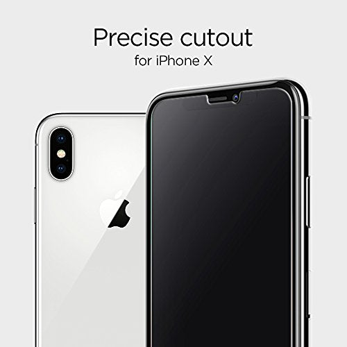 san francisco d813d 6a497 Spigen iPhone X Screen Protector [ Tempered Glass ] [Back Film included]  for Apple iPhone X (2017)