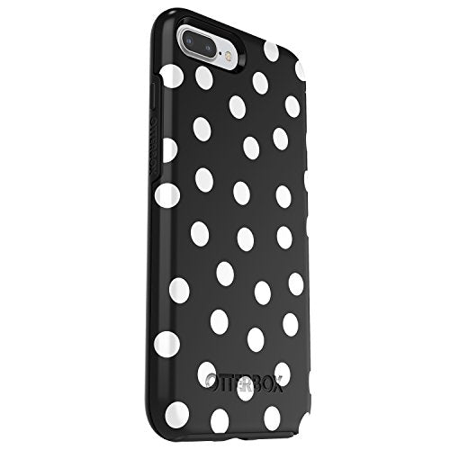 new product eb930 5e126 OtterBox SYMMETRY SERIES Case for iPhone 8 Plus & iPhone 7 Plus (ONLY) -  Retail Packaging - DATE NIGHT (BLACK/WHITE POLKA DOT GRAPHIC)