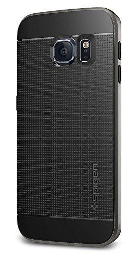 Spigen Neo Hybrid Galaxy S6 Edge Case with Flexible Inner Protection and Reinforced Hard Bumper Frame for Galaxy S6 Edge 2015 - Gunmetal