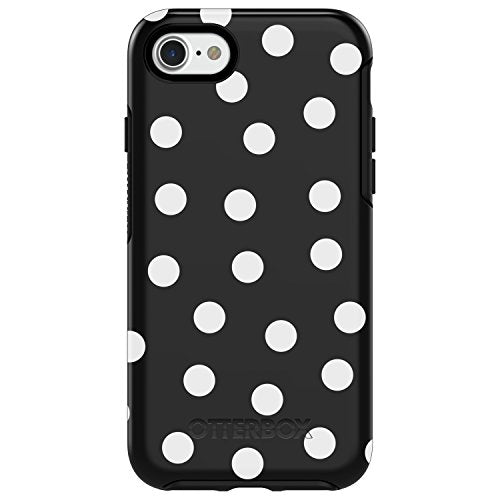 OtterBox SYMMETRY SERIES Case for iPhone 8 & iPhone 7 (NOT Plus) - Retail Packaging - DATE NIGHT (BLACK/WHITE POLKA DOT GRAPHIC)