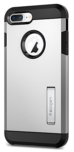 Spigen Tough Armor [2nd Generation] iPhone 8 Plus Case / iPhone 7 Plus Case with Kickstand Air Cushion Technology for Apple iPhone 8 Plus (2017) / iPhone 7 Plus (2016) - Satin Silver