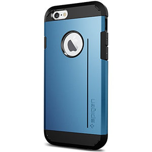 Spigen Tough Armor S iPhone 6 Case with Extreme Heavy Duty Protection and Card Kickstand Feature for iPhone 6S / iPhone 6 - S Electric Blue