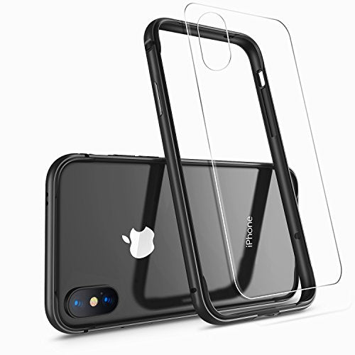 iPhone X Case, iPhone 10 Case,HUMIXX [Extre Series] Aluminum TPU Hybrid Shockproof Bumper Case for iPhone X (Include Clear Back Screen Protector)