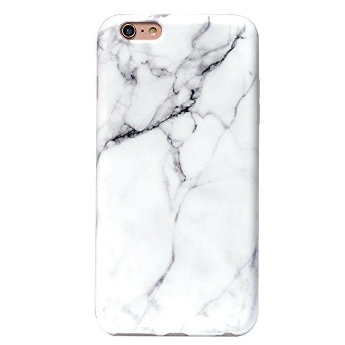 White Marble iPhone 6s Plus Case for Girls,YAR-JA Shockproof Matte TPU Soft Rubber Silicone Skin Cover Phone Case for Apple iPhone 6 Plus & iPhone 6s Plus [5.5 inch]