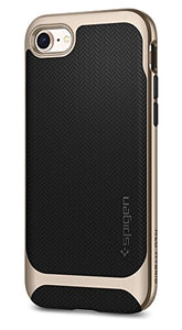 Spigen Neo Hybrid Herringbone iPhone 8 Case / iPhone 7 Case with Flexible Inner Protection and Reinforced Hard Bumper Frame for Apple iPhone 8 (2017) / iPhone 7 (2016) - Champagne Gold