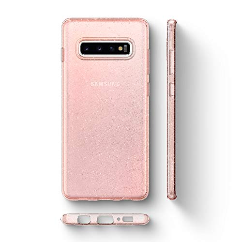 Spigen Liquid Crystal Glitter Designed for Samsung Galaxy S10 Case (2019) - Rose Quartz