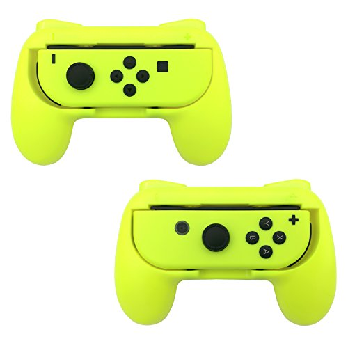 FastSnail Joy-Con Grip Kit for Nintendo Switch, Wear-resistant Joy-con Grip Controller for Switch, Set of 2 (Yellow)