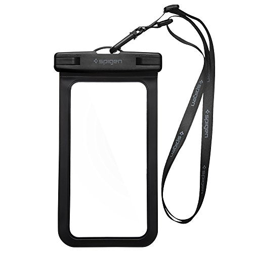 Spigen Universal Waterproof Case Pouch Dry Bag for Cell Phone & Accessories Compatible with iPhone 7 / 7 Plus / 6S / 6S Plus / Galaxy S8 / S8 Plus / S7 / S7 Edge / LG / Nexus And More