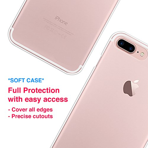 online store 826a5 bb774 iPhone 8 Plus Case, iPhone 7 Plus Case, CasesByLorraine Avocado Pattern  Clear Transparent Case Fruits Flexible TPU Soft Gel Protective Cover for  Apple ...