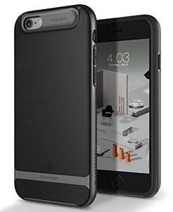 iPhone 6S Case, Caseology [Wavelength Series] Slim Dual Layer Textured Geometric Corner Cushion Design [Black] for Apple iPhone 6S (2015) & iPhone 6 (2014)