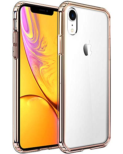 Mkeke Compatible with iPhone XR Case,Clear Anti-Scratch Shock Absorption Cover Case for iPhone XR Gold