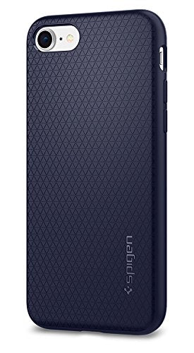 Spigen Liquid Air Armor iPhone 7 Case / iPhone 8 Case with Durable Flex and Easy Grip Design for Apple iPhone 7 (2016) / iPhone 8 (2017) - Midnight Blue