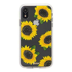 "iPhone XR, Sunflower (Yellow Flowers) Cell Phone Case [Military Drop Test Certified] Women's Protective Clear Case for Apple iPhone (6.1"") iPhone XR"