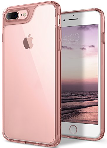 iPhone 8 Plus Case, / iPhone 7 Plus Case Caseology [Waterfall Series] Slim Clear Transparent Protective Air Space Technology for Apple iPhone 7 Plus (2016) / iPhone 8 Plus (2017) - Rose Gold