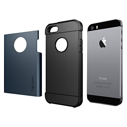 new style ea8be 52b70 Spigen Tough Armor iPhone SE / 5S / 5 Case with Extreme Heavy Duty  Protection and Air Cushion Technology for iPhone SE / iPhone 5S / iPhone 5  - Metal ...