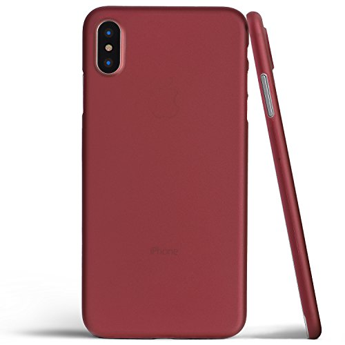 totallee iPhone X Case, Thinnest Cover Premium Fit Thin Ultra Thin Light Slim Minimal Anti-Scratch Protective - For Apple iPhone X (Burgundy Red)