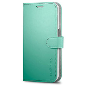 Spigen Wallet S Galaxy S6 Case with Foldable Cover and Kickstand Feature for Galaxy S6 2015 - Mint