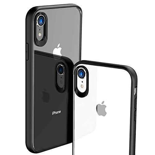 brand new 4e715 432f4 TOZO for iPhone XR Case Hybrid Soft Grip Matte Finish Frame Clear Back  Panel Ultra-Thin [Slim Fit] Cover for iPhone XR 6.1 Inch 2018 (Black)