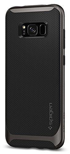 Spigen Neo Hybrid Galaxy S8 Plus Case Herringbone with Flexible Inner Protection and Reinforced Hard Bumper Frame for Galaxy S8 Plus (2017) - Gunmetal