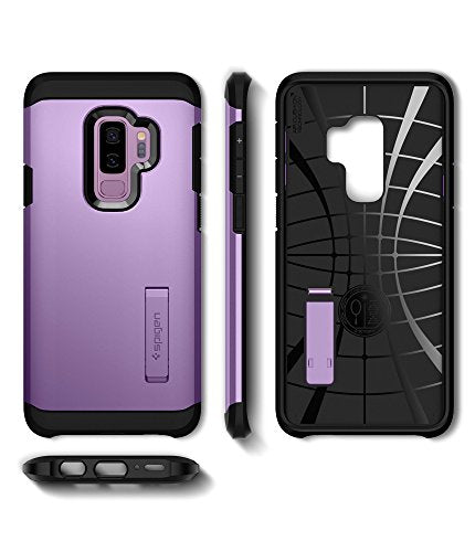 size 40 f965e dc67a Spigen Tough Armor Galaxy S9 Plus Case with Reinforced Kickstand and Heavy  Duty Protection and Air Cushion Technology for Samsung Galaxy S9 Plus ...
