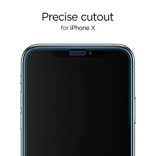 wholesale dealer 1a462 30ac7 Spigen iPhone X Screen Protector [ Tempered Glass x 2 ] [ Edge to Edge  Protection ] for Apple iPhone X (2017)