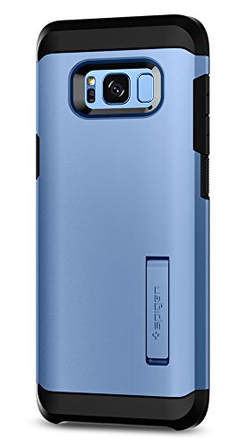 Spigen Tough Armor Galaxy S8 Case with Kickstand and Extreme Heavy Duty Protection and Air Cushion Technology for Samsung Galaxy S8 (2017) - Coral Blue