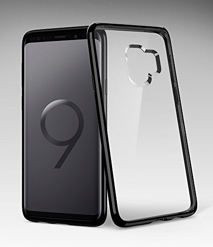 finest selection 106d4 31135 Spigen Ultra Hybrid Galaxy S9 Case with Air Cushion Technology and Clear  Hybrid Drop Protection for Samsung Galaxy S9 (2018) - Midnight Black