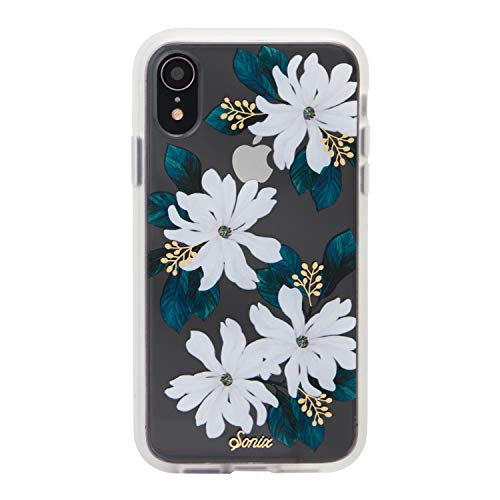 iPhone XR, Sonix Delilah (White Flowers) Cell Phone Case [Military Drop Test Certified] Women's Protective Clear Case for Apple iPhone (6.1