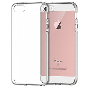 JETech Apple iPhone SE 5S 5 Case Cover Shock-Absorption Bumper Anti-Scratch Clear Back (Crystal Clear) - 0426