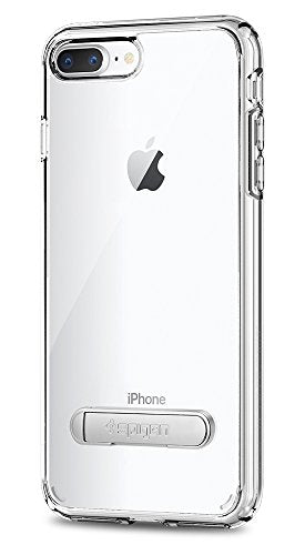 Spigen Ultra Hybrid S [2nd Generation] iPhone 8 Plus Case / iPhone 7 Plus Case with Air Cushion Technology and Kickstand for Apple iPhone 8 Plus (2017) / iPhone 7 Plus (2016) - Crystal Clear