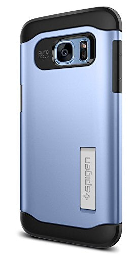 Spigen Slim Armor Galaxy S7 Edge Case with Air Cushion Technology and Hybrid Drop Protection for - Blue Coral