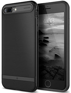 iPhone 7 Plus Case / iPhone 8 Plus Case, Caseology [Wavelength Series] Slim Protective Textured Grip Drop Protection for Apple iPhone 7 Plus (2016) / iPhone 8 Plus (2017) - Matte Black