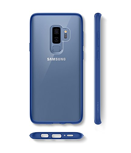 pretty nice 56d70 2c2d2 Spigen Ultra Hybrid Galaxy S9 Plus Case with Air Cushion Technology and  Clear Hybrid Drop Protection for Samsung Galaxy S9 Plus (2018) - Coral Blue