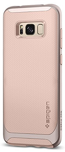 Spigen Neo Hybrid Galaxy S8 Plus Case Herringbone with Flexible Inner Protection and Reinforced Hard Bumper Frame for Galaxy S8 Plus (2017) - Pale Dogwood