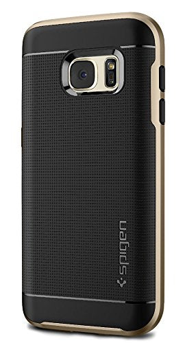 Spigen Neo Hybrid Galaxy S7 Case with Flexible Inner Protection and Reinforced Hard Bumper Frame for Galaxy S7 2016 - Champagne Gold