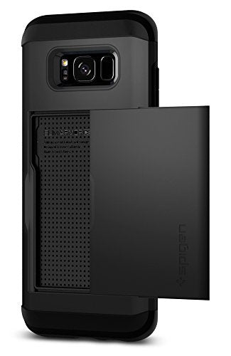 Spigen Slim Armor CS Galaxy S8 Plus Case with Slim Dual Layer Wallet Design and Card Slot Holder for Galaxy S8 Plus (2017) - Black