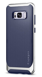 Spigen Neo Hybrid Galaxy S8 Plus Case Herringbone with Flexible Inner Protection and Reinforced Hard Bumper Frame for Galaxy S8 Plus (2017) - Arctic Silver