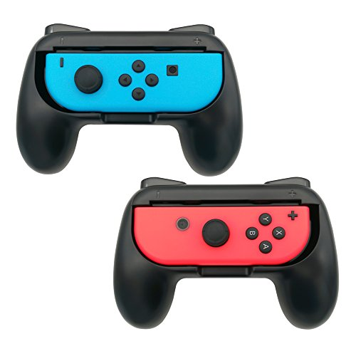 FastSnail Joy-Con Grips for Nintendo Switch, Wear-resistant Joy-con Handle for Nintendo Switch, 2 Pack (Black)