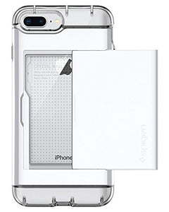 Spigen Crystal Wallet iPhone 7 Plus / iPhone 8 Plus Case with Slim Dual Layer Wallet Design and Card Slot Holder for Apple iPhone 7 Plus (2016) / iPhone 8 Plus (2017) - Jet White