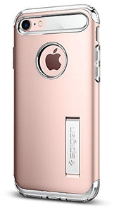Spigen Slim Armor iPhone 7 / iPhone 8 Case with Kickstand and Air Cushion Technology Hybrid Drop Protection for Apple iPhone 7 (2016) / iPhone 8 (2017) - Rose Gold