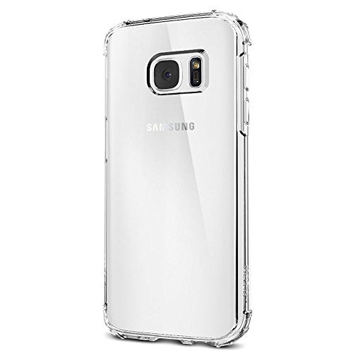 Spigen Crystal Shell Galaxy S7 Case with Clear back panel and Reinforced Corners on TPU bumper for Samsung Galaxy S7 2016 - Clear Crystal