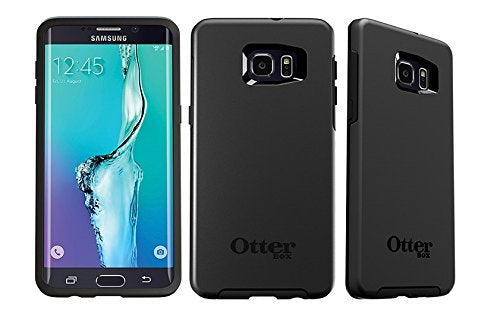 Otterbox SYMMETRY Series Cell Phone Case for Samsung Galaxy S6 Edge+ (PLUS) - Retail Packaging - Black