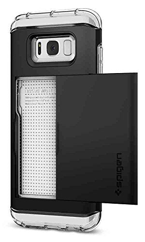 Spigen Crystal Wallet Galaxy S8 Plus Case with Slim Dual Layer Wallet Design and Card Slot Holder for Galaxy S8 Plus (2017) - Black