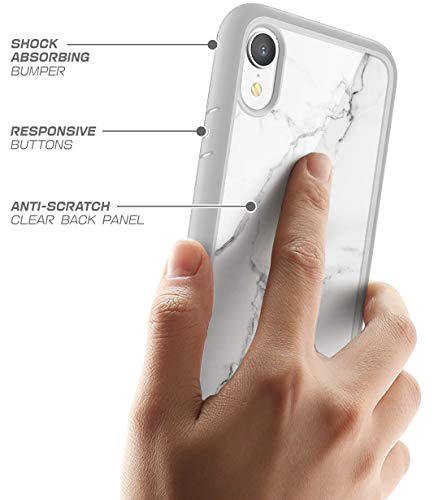 finest selection 1dd73 76d15 iPhone XR case, SUPCASE [Unicorn Beetle Style Series] Premium Hybrid  Protective Clear Case for Apple iPhone XR 6.1 inch 2018 Release (Marble)