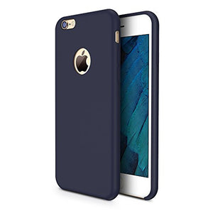 iPhone 6s Case, TORRAS [Love Series] Liquid Silicone Rubber iPhone 6 6S Shockproof Case with Soft Microfiber Cloth Cushion (4.7 inches)-Dark Blue