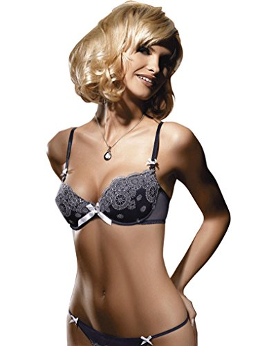 Gracya Szahira Dark Blue and White Bra 106 38B UK/38A US/100B FR